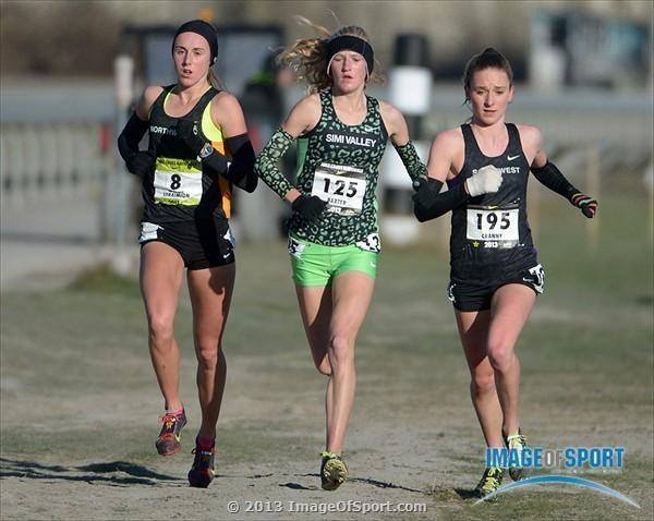 The top three runners in the country run side by side at NXN (Kirby Lee photo)