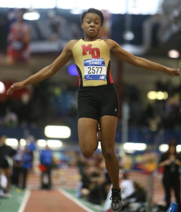 Keturah Orji in the long jump