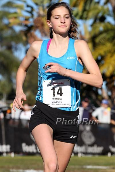 Brianna Schwartz at Foot Locker nationals.