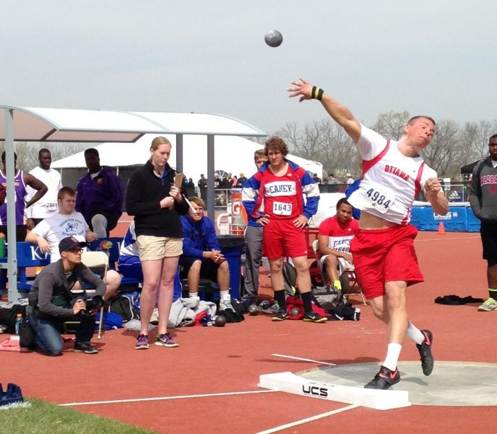 Kord Ferguson at Kansas Relays